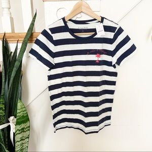 J. Crew je vais à la plage collector tee striped S